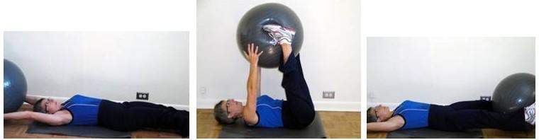 core exercises ball pass