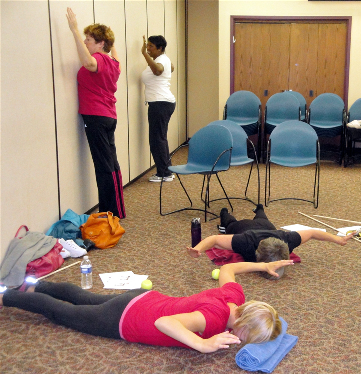 Scapular stabilization exercises, with modifications.